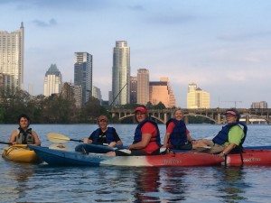 Kayaking on Lady Bird Lake @ Austin Rowing Dock | Austin | Texas | United States